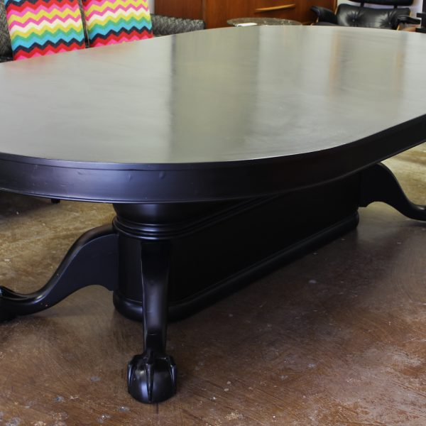 Ebony Stained Clawfoot Dining Table