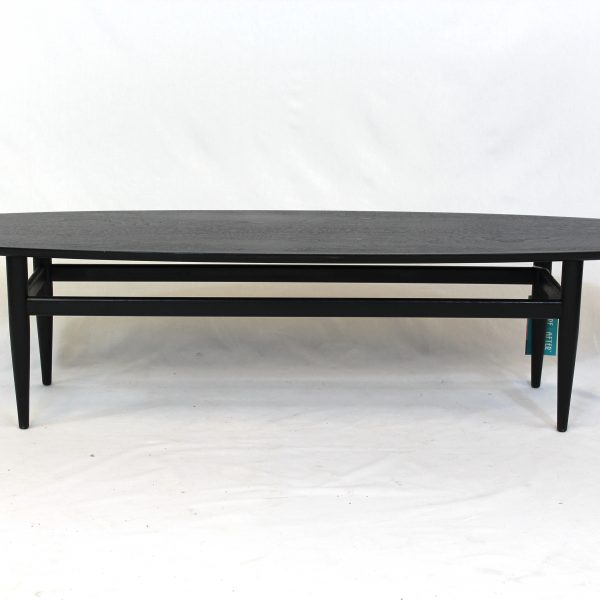 Eames-Style Surfboard Ebony Stained Coffee Table