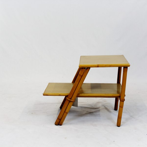 Midcentury Outdoor Bamboo Side Table
