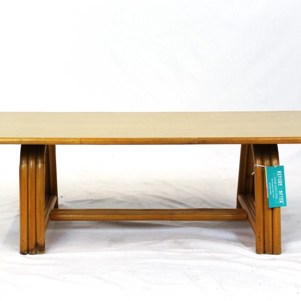 Midcentury Outdoor Bamboo Coffee Table