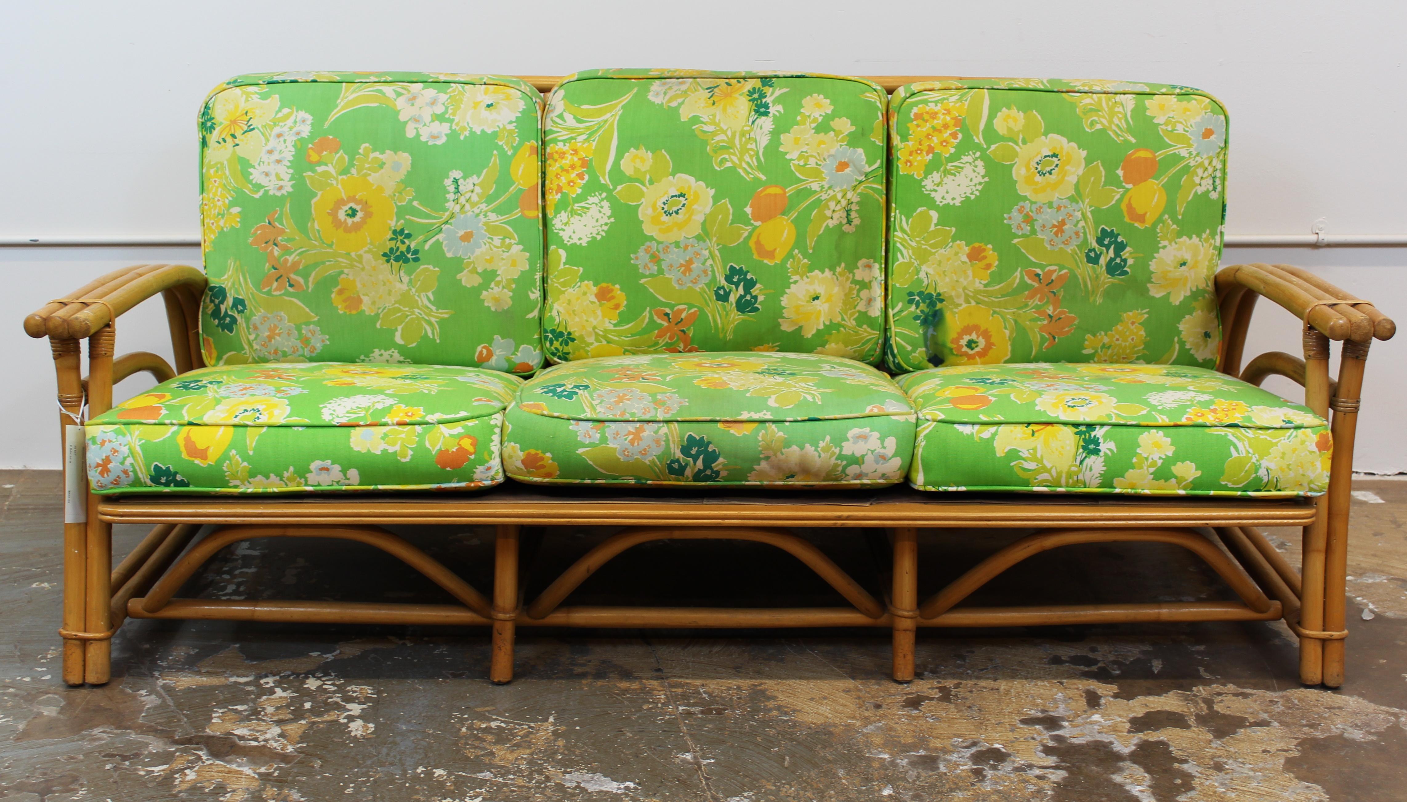 Midcentury Outdoor Bamboo Sofa