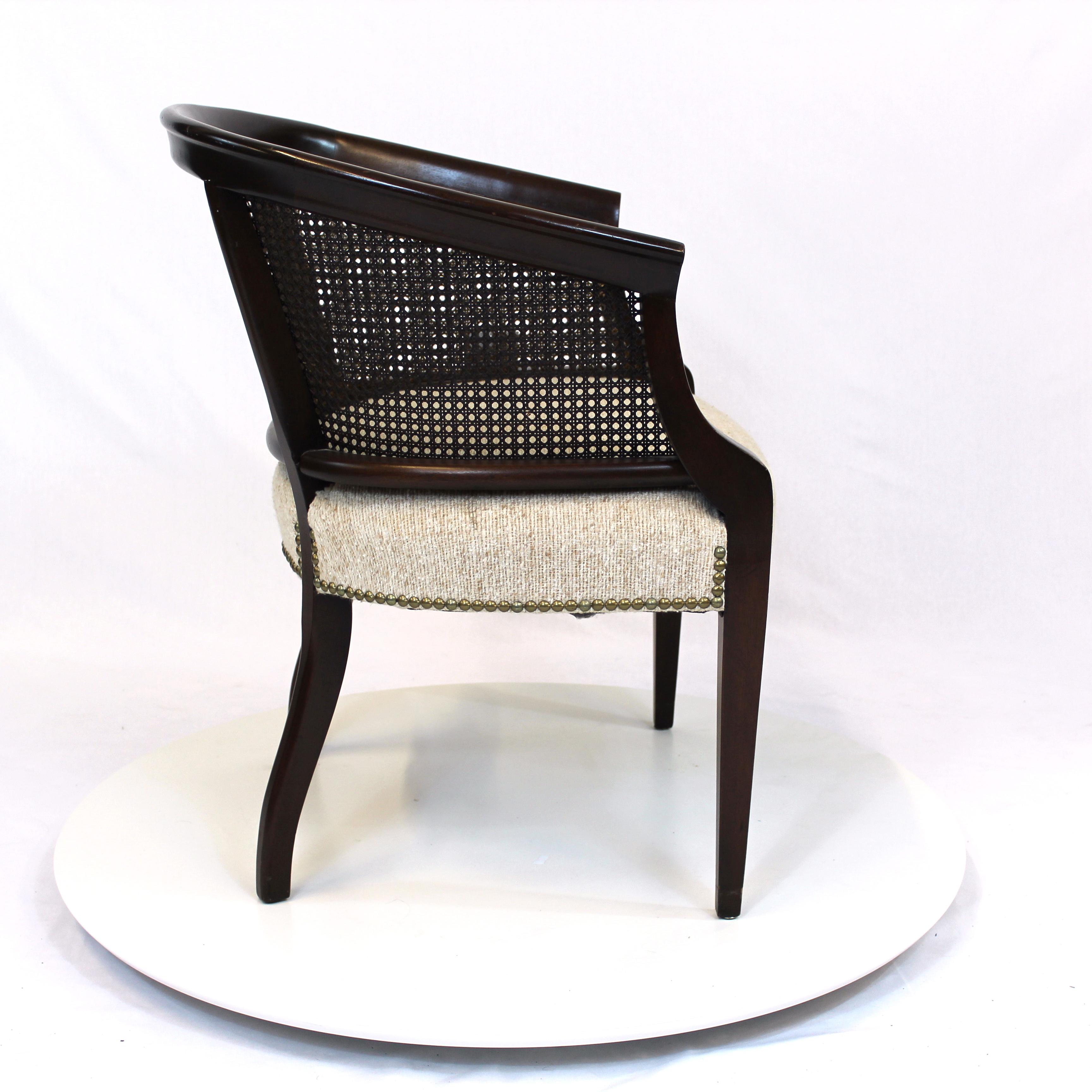 ... Hollywood Regency Rattan Back Barrel Chair ...
