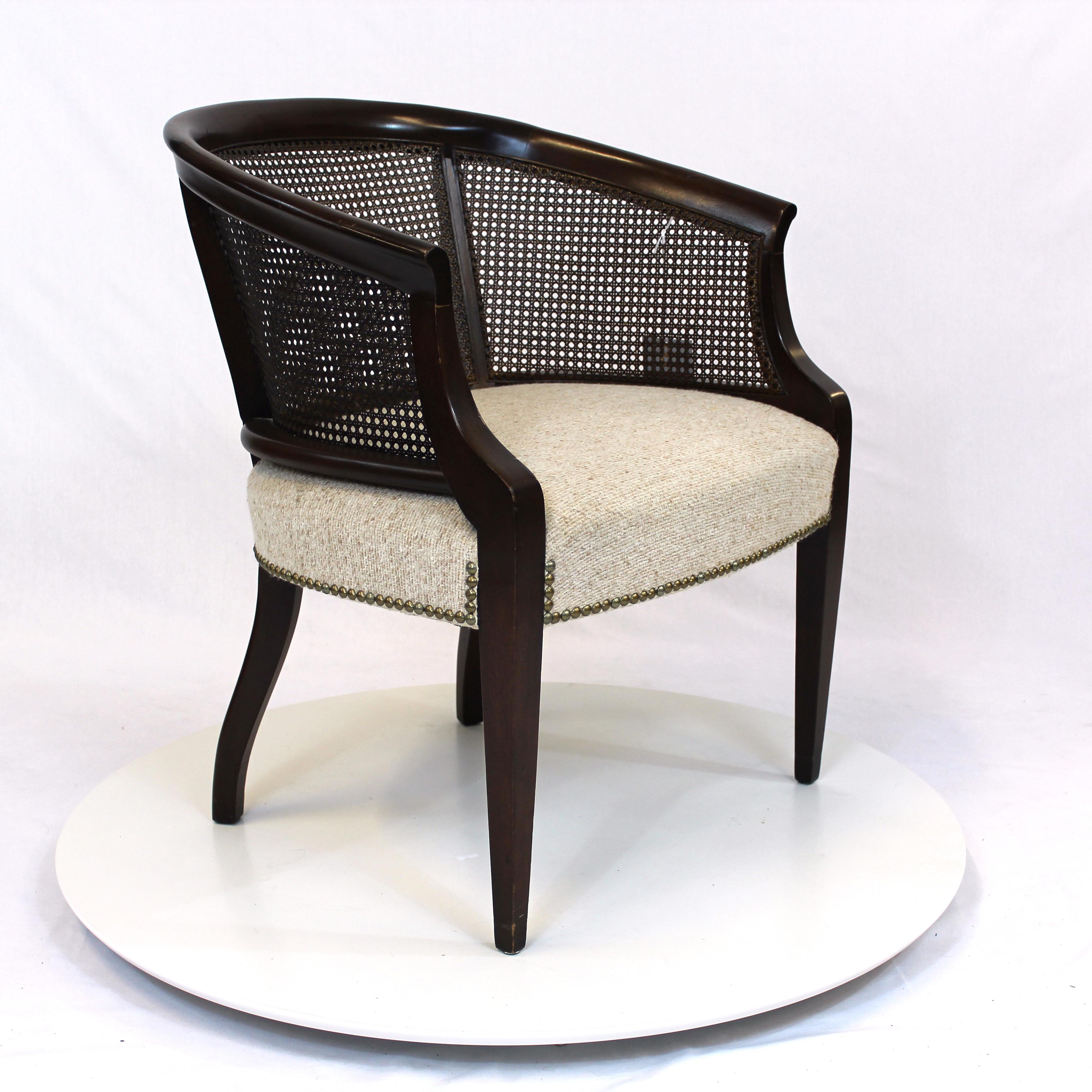 Hollywood Regency Rattan Back Barrel Chair Hollywood Regency Rattan Back  Barrel Chair ...