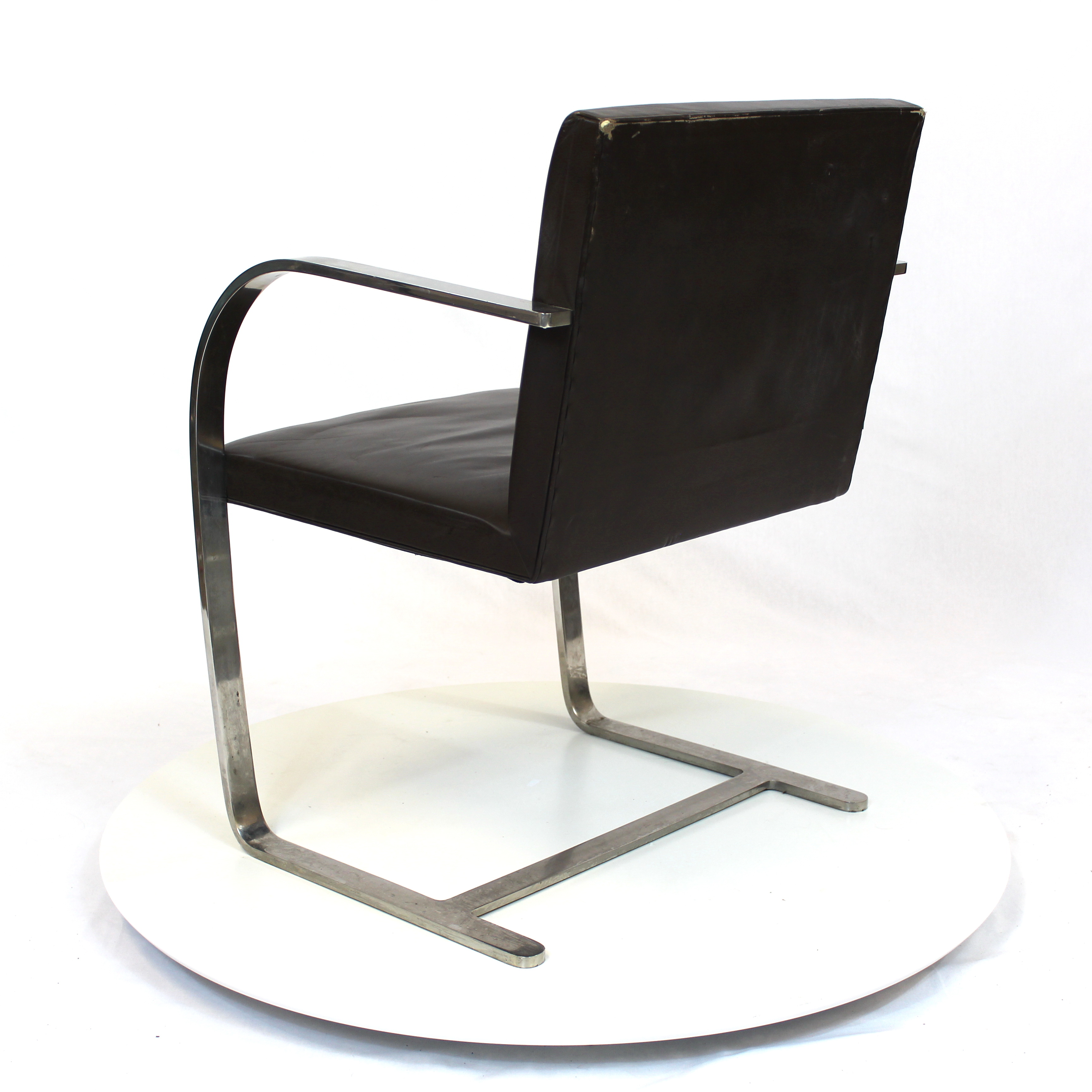 ... Ludwig Mies Van Der Rohe   Brno Chair Black Leather ...
