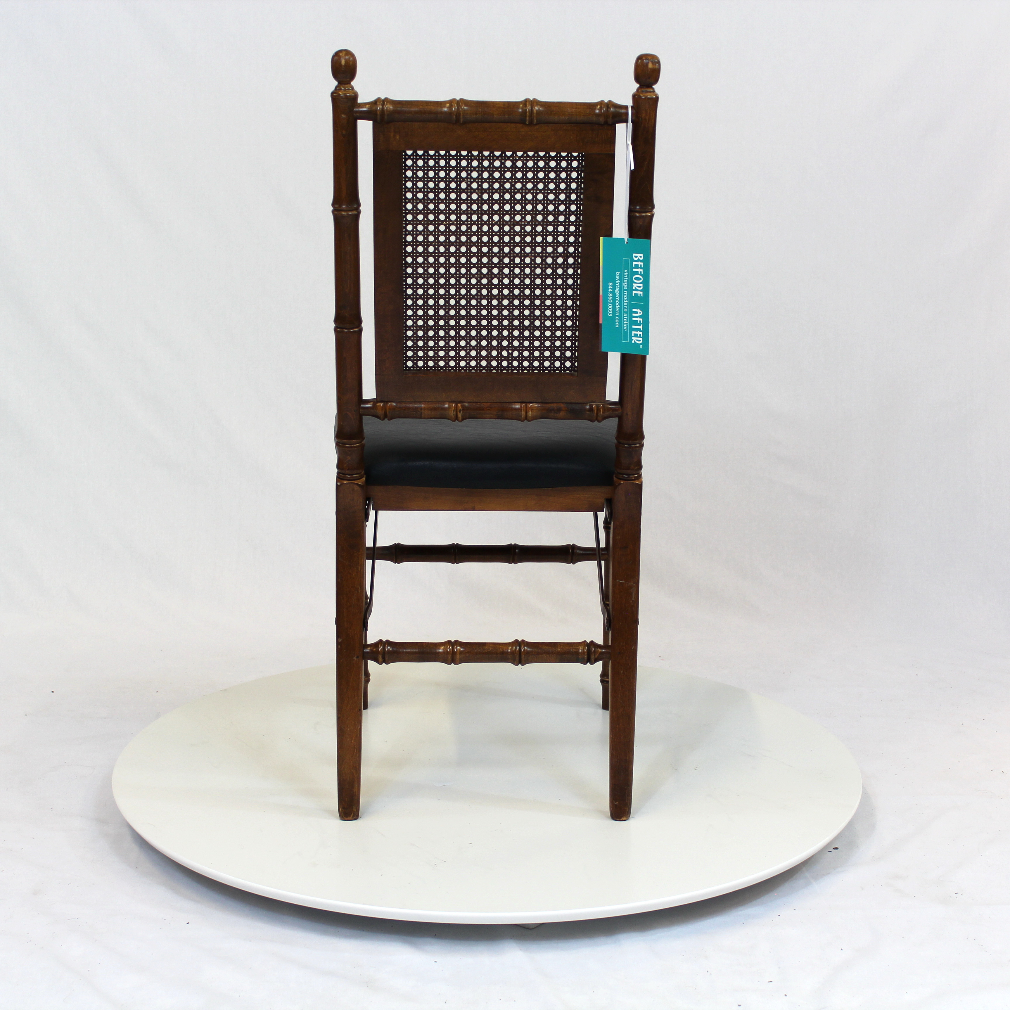 Midcentury Rattan Back Folding Chair – Furniture Basix