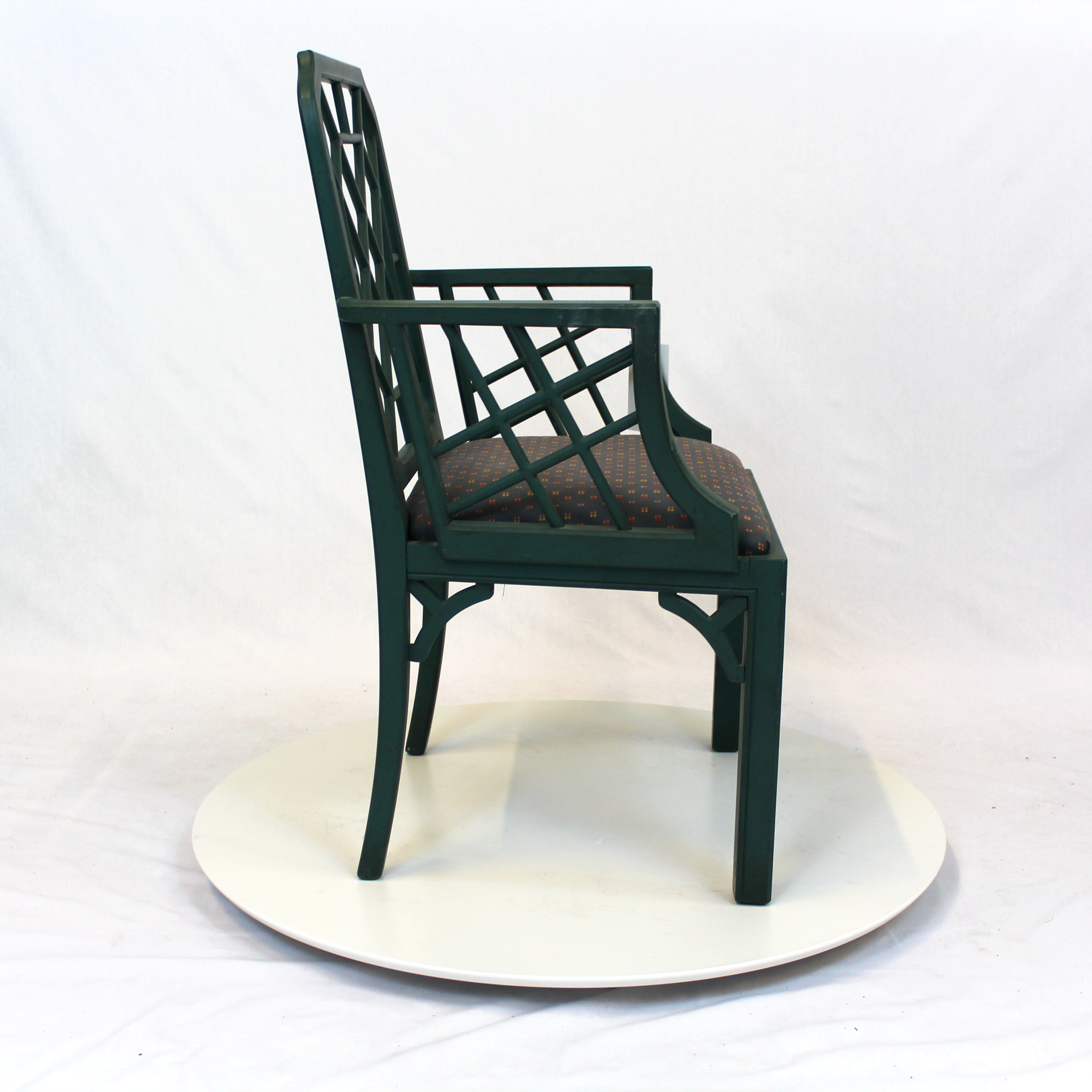 ... Hollywood Regency Chippendale Bamboo Rattan Chair ...